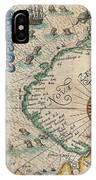 1601 De Bry And De Veer Map Of Nova Zembla And The Northeast Passage IPhone Case