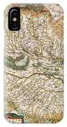 1644 Jansson Map Of Alsace Basel And Strasbourg Geographicus Alsatiasuperior Jansson 1644 IPhone Case