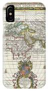 1650 Jansson Map Of The Ancient World IPhone Case