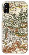 1657 Jansson Map Of Germany Germania Geographicus Germaniae Jansson 1657 IPhone Case