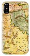 1657 Visscher Map Of The Holy Land Or The Earthly Paradise Geographicus Gelengentheyt Visscher 1657 IPhone Case