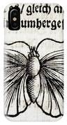 1683 Maria Merian Black Veined White IPhone Case