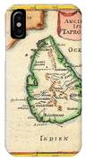 1686 Mallet Map Of Ceylon Or Sri Lanka Taprobane Geographicus Taprobane Mallet 1686 IPhone Case
