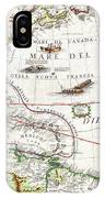1688 Coronelli Globe Gore Map Of Ne North America The West Indies And Ne South America Geographicus  IPhone Case