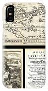 1688 Hennepin First Book And Map Of North America First Printed Map To Name Louisiana Geographicus N IPhone Case