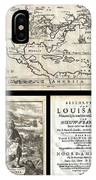 1688 Hennepin First Book And Map Of North America IPhone Case