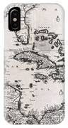 1696 Danckerts Map Of Florida The West Indies And The Caribbean Geographicus Westindies Dankerts 169 IPhone Case