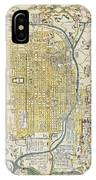 1696 Genroku 9 Early Edo  Japanese Map Of Kyoto Japan Geographicus Kyoto Genroku9 1696 IPhone Case