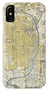 1696 Genroku 9 Early Edo Japanese Map Of Kyoto Japan IPhone Case