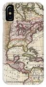 1698 Louis Hennepin Map Of North America IPhone Case