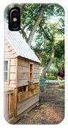 A Backyard Chicken Coop In Austin IPhone Case