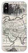 1700 Cellarius Map Of Asia Europe And Africa According To Strabo IPhone Case