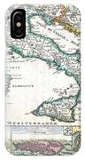 1706 De La Feuille Map Of Italy IPhone Case