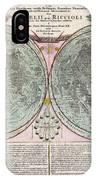 1707 Homann And Doppelmayr Map Of The Moon  IPhone Case