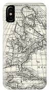 1708 De Lisle Map Of North America IPhone Case