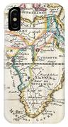 1710 De La Feuille Map Of Africa IPhone Case