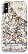 1710 De La Feuille Map Of The Netherlands Belgium And Luxembourg  IPhone Case
