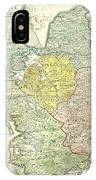 1710 Homann Map Of Denmark IPhone Case