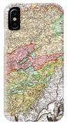 1716 Homann Map Of Burgundy France Geographicus Burgundiae Homan 1716 IPhone Case