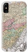 1716 Homann Map Of Burgundy France IPhone Case