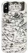 1719 Mallet Map Of The Source Of The Nile Ethiopia Abyssinia Geographicus Nil Mallet 1719 IPhone Case
