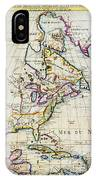 1720 Chatelain Map Of North America Geographicus Amerique Chatelain 1720 IPhone Case