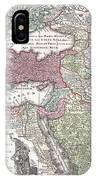 1730 Seutter Map Of Turkey Ottoman Empire Persia And Arabia IPhone Case