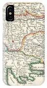1738 Ratelband Map Of The Balkans IPhone Case
