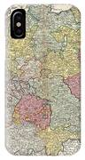1740 Homann Map Of The Holy Roman Empire IPhone Case