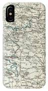 1740 Zatta Map Of Central France And The Vicinity Of Paris  IPhone Case