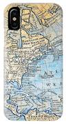 1747 Bowen Map Of North America Geographicus Northamerica Bowen 1747 IPhone Case