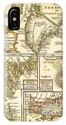 1747 Bowen Map Of The North Atlantic Islands Greenland Iceland Faroe Islands Maelstrom Geographicus  IPhone Case