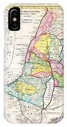 1750 Homann Heirs Map Of Israel Palestine Holy Land 12 Tribes Geographicus Palestina Homannheirs 175 IPhone Case