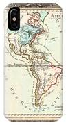 1760 Desnos And De La Tour Map Of North America And South America Geographicus Amerique Desnos 1760 IPhone Case