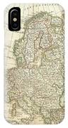 1762 Janvier Map Of Europe  IPhone Case
