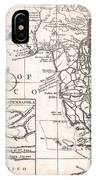 1763 Gibson Map Of East And West Florida IPhone Case