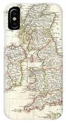 1771 Zannoni Map Of The British Isles  IPhone Case