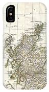 1772 Bonne Map Of Scotland  IPhone Case