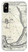 1773 Bellin Map Of The Cape Of Good Hope Capetown South Africa IPhone Case
