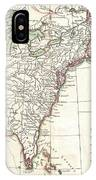 1776 Bonne Map Of Louisiana And The British Colonies In North America IPhone Case