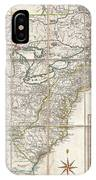 1779 Phelippeaux Case Map Of The United States During The Revolutionary War IPhone Case