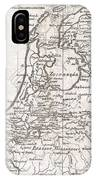 1780 Raynal And Bonne Map Of Holland And Belgium IPhone Case