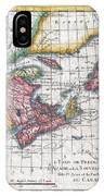 1780 Raynal And Bonne Map Of New England And The Maritime Provinces IPhone Case
