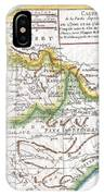 1780 Raynal And Bonne Map Of Northern India IPhone Case