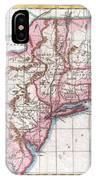 1780 Raynal And Bonne Map Of Northern United States IPhone Case