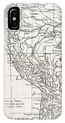 1780 Raynal And Bonne Map Of Peru IPhone Case