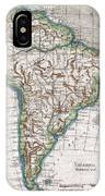 1780 Raynal And Bonne Map Of South America IPhone Case