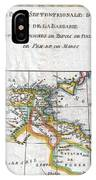 1780 Raynal And Bonne Map Of The Barbary Coast Of Northern Africa IPhone Case