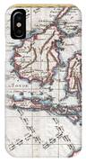 1780 Raynal And Bonne Map Of The East Indies Singapore Java Sumatra Borneo IPhone Case