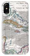 1780 Raynal And Bonne Map Of The West Indies Caribbean And Gulf Of Mexico IPhone Case